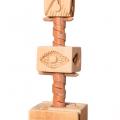 Tower I (detail), 2013 - 16. Rake handle and sea shells, 57 x 193 x 57 cm