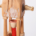 Tower IV (detail), 2013-16. Wood with jelutong, cow bones and metal, 57 x 181 x 57 cm