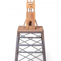 Tower II, 2013-16. Wood with jelutong, bamboo and rubber, 57 x 175 x 57 c