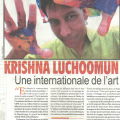 Krishna Luchoomun, Une internationale de l'art. L`HEBDO. January 2016