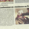 Krishna Luchoomun en résidence au Portugal, Mauricien, December 2013