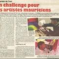 Un challenge pour Les artistes mauriciens, Le Defi, January 2015
