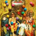 <em>Sweet colours</em>. 2000. Acrylic & collage on paper. 130x100cm.