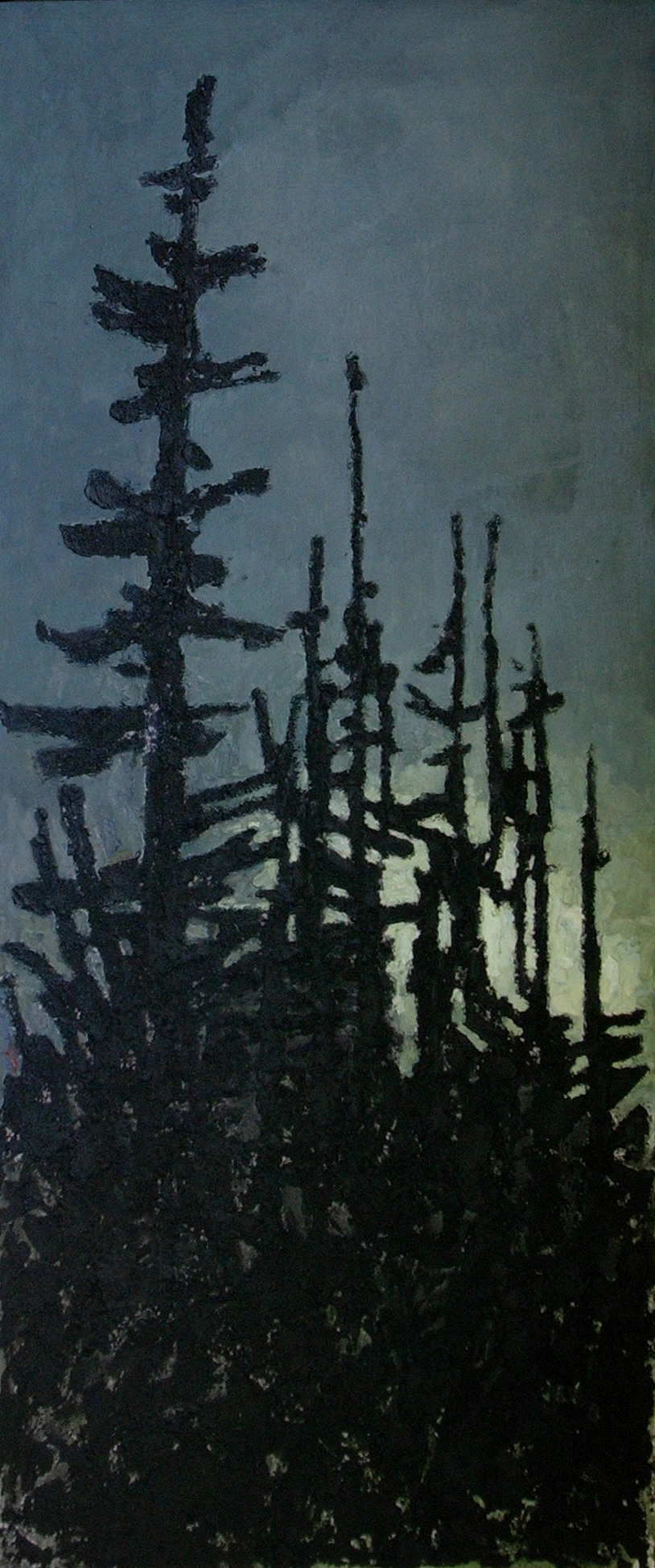 <em>Fortitude</em>. 2007. Oil on canvas. 240x100cm