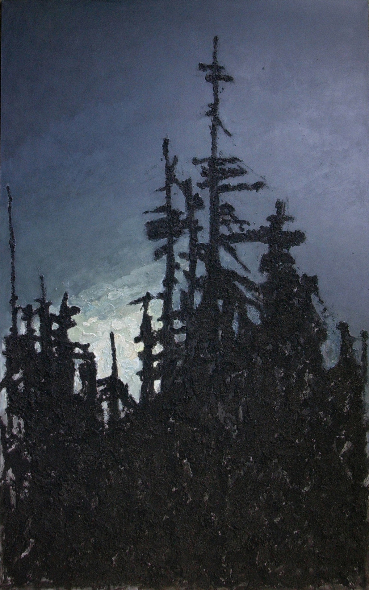 <em>Illuminated</em>. 2007. Oil on canvas. 240x150cm