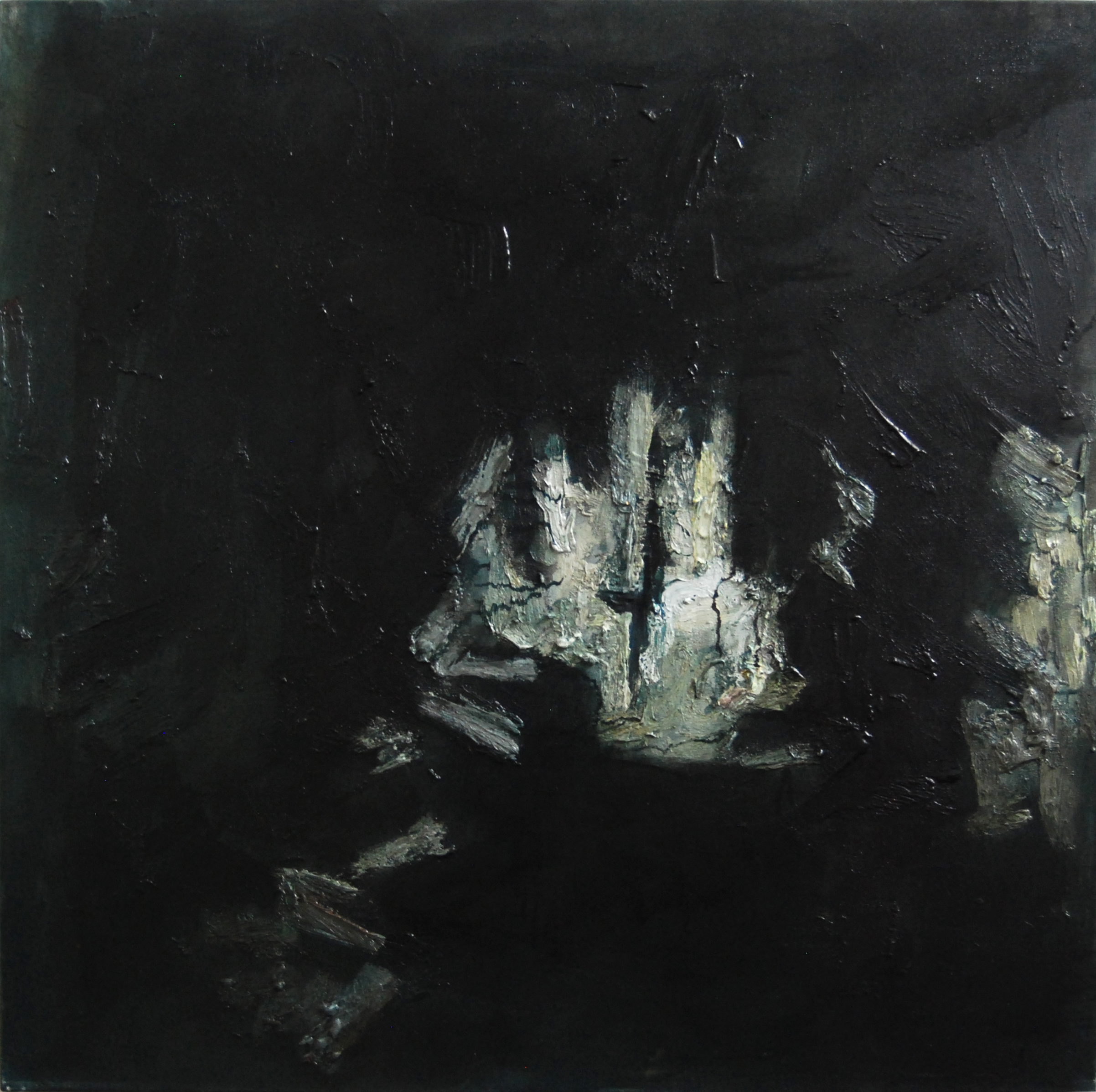 <em>On the way III</em>. 2010. Oil on canvas. 100x100cm