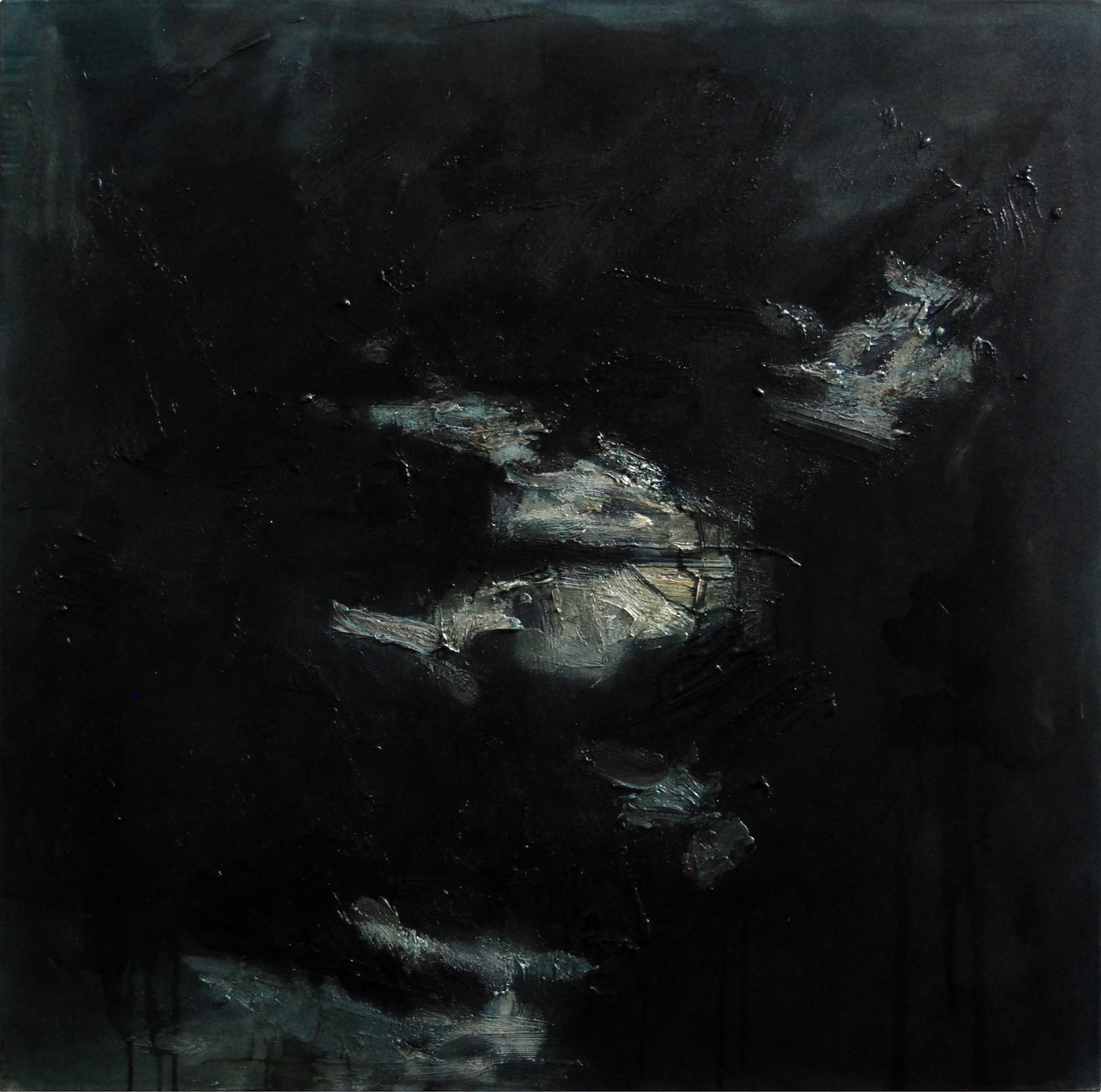 <em>On the way VI</em>. 2010. Oil on canvas. 100x100cm