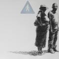 <em>ES46</em>. 2007. Charcoal & hand print on paper. 70x100cm