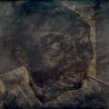 <em>Portrait I</em>. 2001. Charcoal & ink on brown paper. 120x120cm