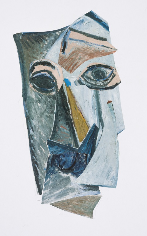 Mask Picasso, 2009. Collage on paper, 58.5 x 40 cm (Photo: Mike Hall)