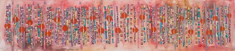 Kwaai Lappies I, c. 2009. Acrylic and mixed media on canvas, 40 x 177 cm (Photo: Mike Hall)