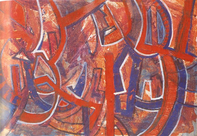 Untitled, 1993. Acrylic on paper, 118 x 87 cm. Collection: R Loder. Source: Cross Currents (2000)
