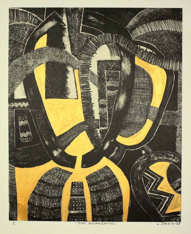 The Awakening, 1995 - 2005. Lithograph and acrylic on paper, 34 x 29.4 cm (Photo: Warren Nelson)