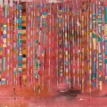 Kwaai Lappies II, c. 2009. Acrylic and mixed media on canvas, 44 x 169.5 cm (Photo: Mike Hall)