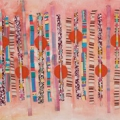 Kwaai Lappies I, c. 2009. Acrylic and mixed media on canvas, 40 x 177 cm (Photo: Mike Hall)