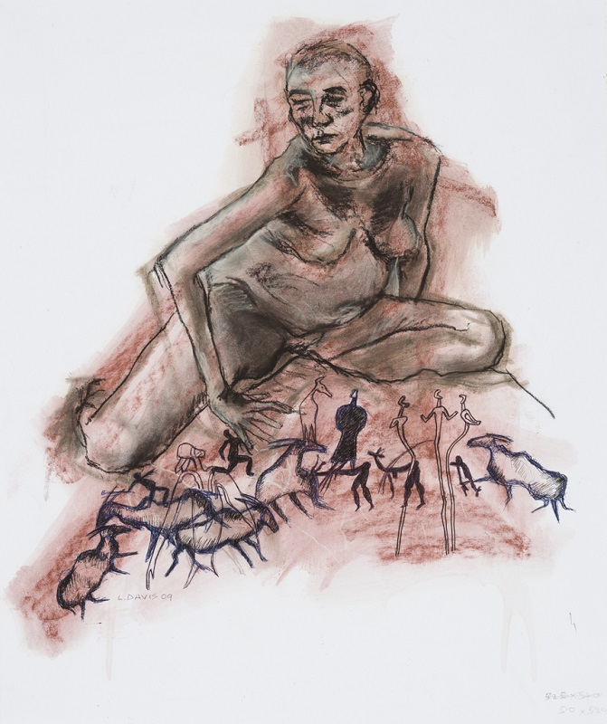 Matriarch, 2009. Charcoal and pen on paper, 39 x 43 cm (Photo: Mike Hall)