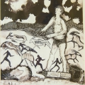 The Hunt (I), 1992. Monoprint on paper, 35 x 29.5 cm (Photo: S Williams)