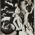 The Hunt (II), 1992. Monoprint on paper, 35 x 29.5 cm (Photo: S Williams)
