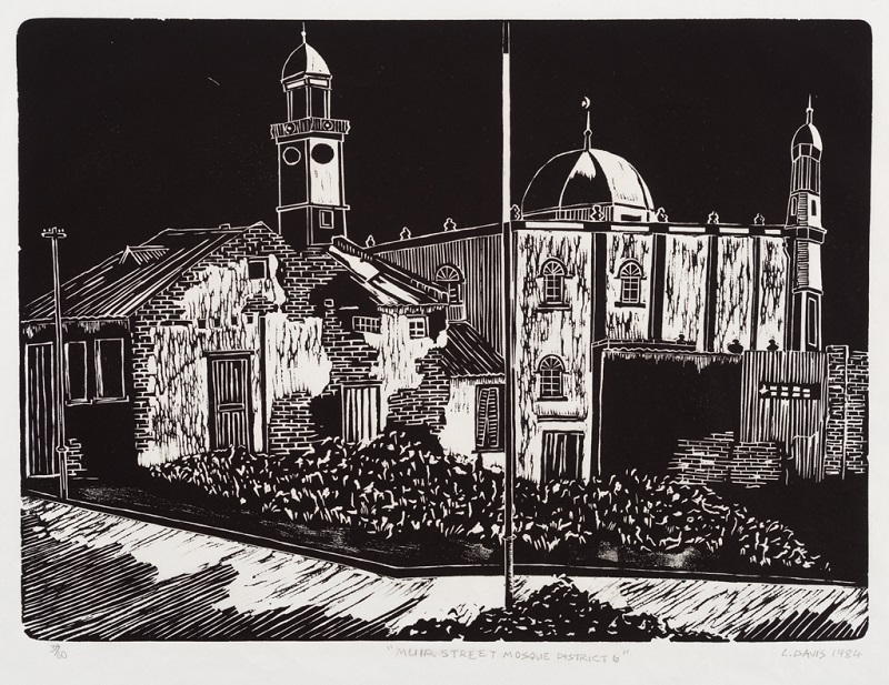 Muir Street Mosque District 6, 1979. Linocut on paper, 35 x 47.8 cm (Photo: Mike Hall)