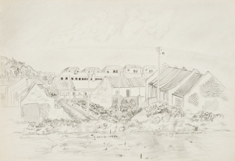 Digging up Hanover Street, 1984. Pencil on paper, 37 x 54 cm (Photo: Mike Hall)