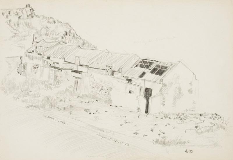 Shepherd Street D6, 1982. Pencil on paper, 37 x 54 cm (Photo: Mike Hall)