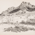 Corner of Russell and Hanover Streets, Looking at Devil's Peak, 1984. Pencil on paper, 37.4 x 58 cm (Photo: Mike Hall)