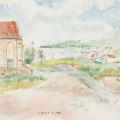 St Mark's Church, 1984. Watercolour on paper, 33 x 47.5 cm (Photo: Mike Hall)