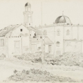 Muir Street Mosque, 1984. Pencil on paper, 37 x 54 cm (Photo: Mike Hall)