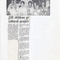 150 Children at cultural project. Plainsman, 12 July 1986