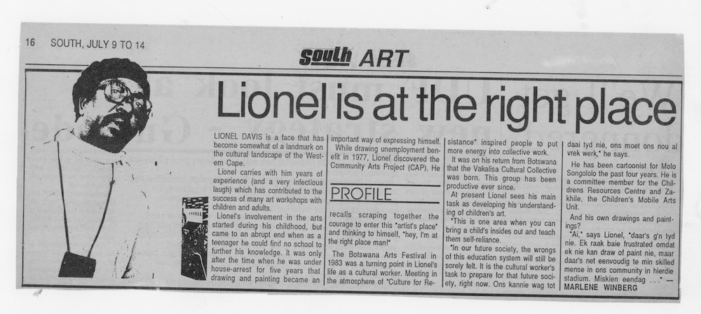 Lionel is at the right place. South Art, 9 - 14 July