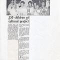150 Children at cultural project. Plainsman, 12 July 1986