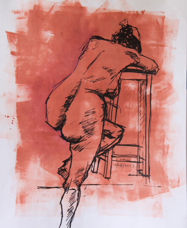 Christine, 2009. ink and acrylic on paper, 32 x 45 cm (Photo: S Williams)