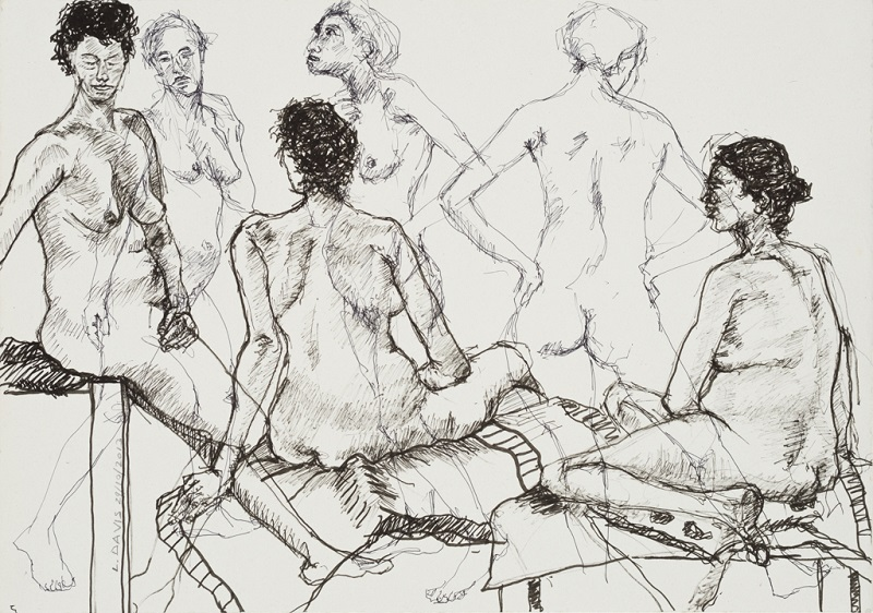 Female Nude Study, 2013. Pen and ink on paper, 42 x 59 cm (Photo: Mike Hall)