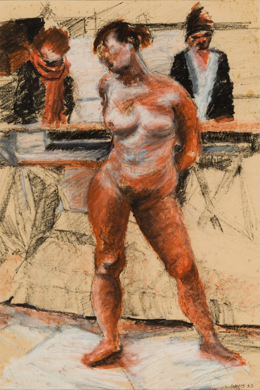 Drawing Class, 1985. Charcoal and oil pastel on newsprint, 61 x 45.5 cm (Photo: Mike Hall)
