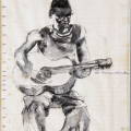 Timmy and His Guitar, 1986. Ink on paper, 20 x 28 cm (Photo: S Williams)