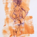 Nude Study, 2009. Ink and acrylic on Paper, 33 x 45 cm (Photo: S Williams)