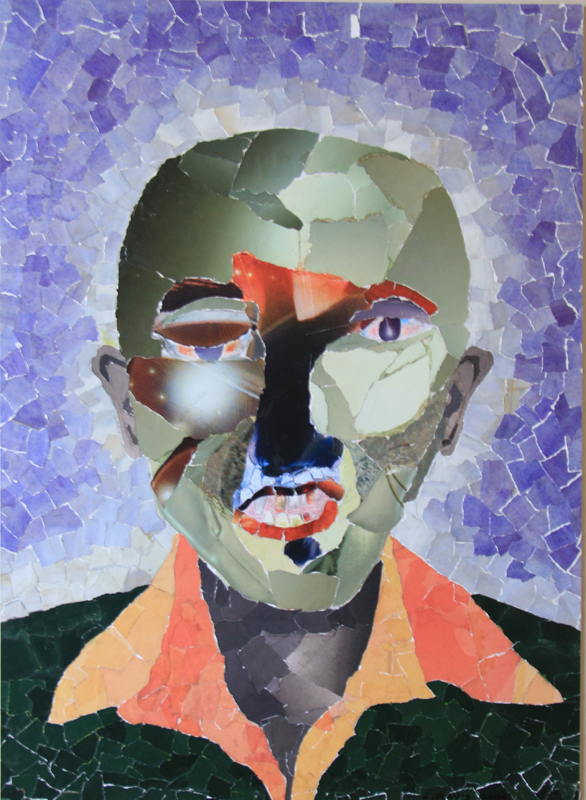Mask 9, 2009. Collage on paper, 58 x 42 cm (Photo: S Williams)