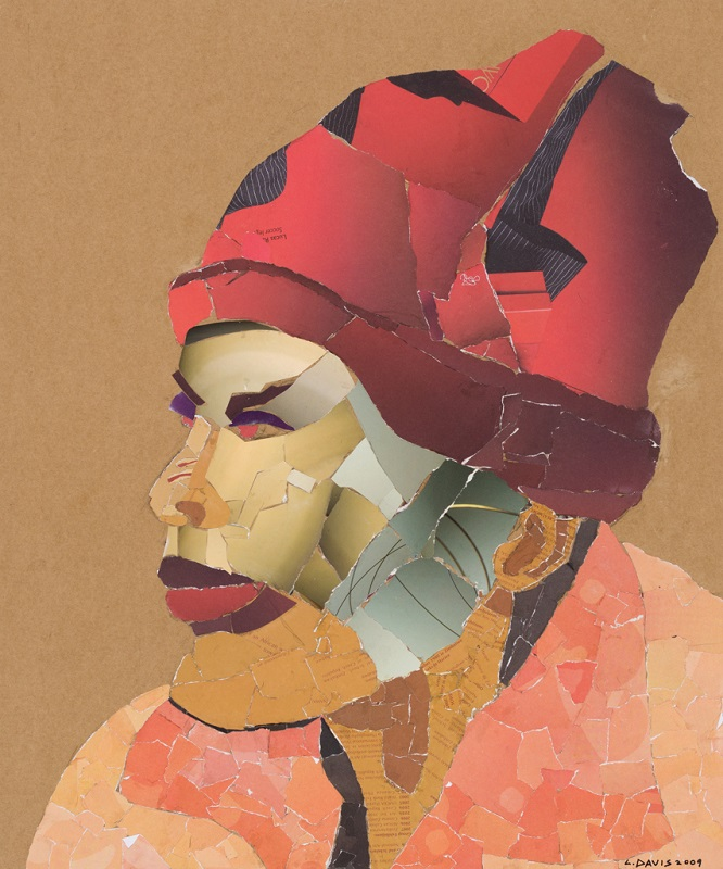 Mask 8, 2009. Collage on paper, 59 x 48 cm (Photo: Mike Hall)