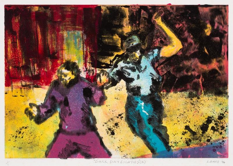 Dark Days Eighties I, 1984. Monoprint on paper, 27 x 37.5 cm (Photo: Mike Hall)