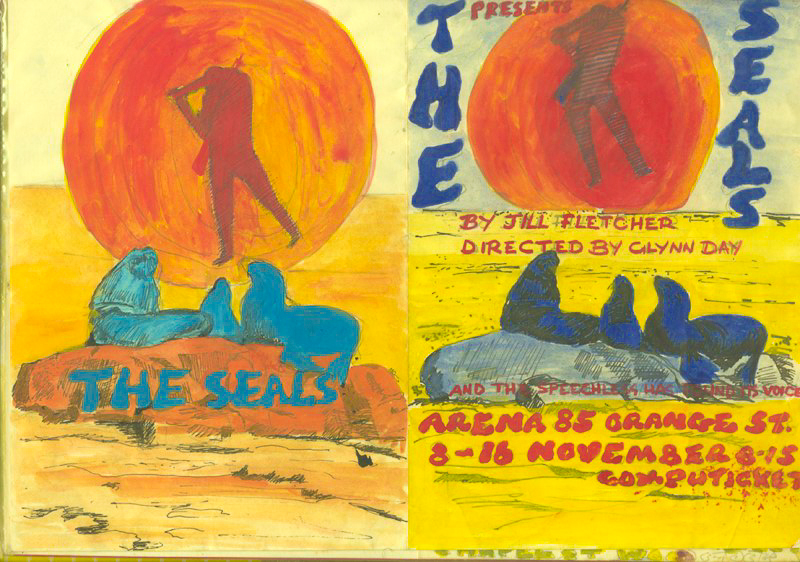 The Seals, 1985. Ink and wash on paper
