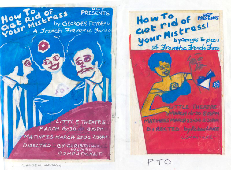 Artwork for How to Get Rid of Your Mistress, 1985. Ink and wash on paper
