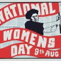 National Women's Day, c. 1986. Screen print on paper, 45 x 63.6 cm (Photo: Mike Hall)