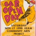 CAP Open Day, 1990. Screen print on paper, 63 x 43.5 cm (Photo: Mike Hall)