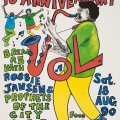 Grassroots 10th Anniversary, 1990. Screen print on paper, 63 x 43.5 cm (Photo: Mike Hall)
