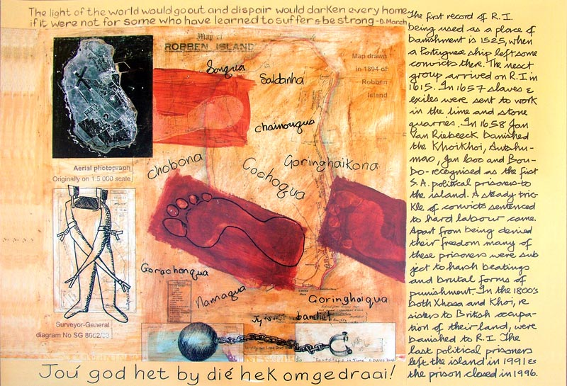 Footprints on Robben Island, c. 2000