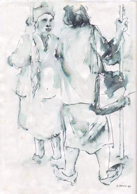 Untitled, c. 1982 - 1986. Ink wash on paper, 29.7 x 21 cm (Photo: S Williams)
