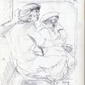 Untitled, c. 1982 - 1986. Pen on paper, 29.7 x 21 cm (Photo: S Williams)