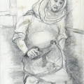 Mother-to-be, 1987. Pencil on paper, 29.5 x 21 cm