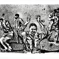 Xolile Mtakatya, <em>Jikijela</em>, 2018. Lithograph on paper