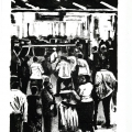 Ricky Dyaloyi, <em>Taxi rank 2</em>, 2018. Lithograph on paper